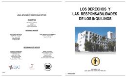 Los derechos y las responsabilidades de los inquilinos.