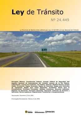 Ley de Tránsito 24.449 - Dirección de Vialidad