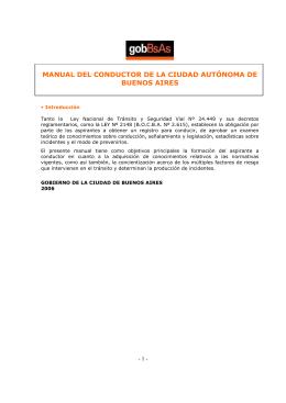 MANUAL DEL CONDUCTOR DE LA CIUDAD AUTÓNOMA