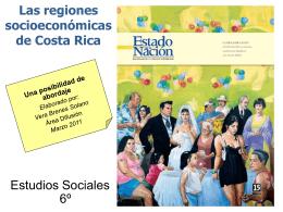 Las regiones socioeconómicas de Costa Rica: una posibilidad de