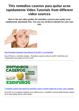 #Z remedios caseros para quitar acne rapidamente PDF video books