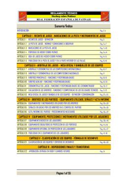 Reglamento técnico - Real Federación Española de Patinaje