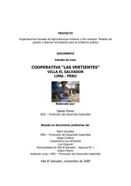 """cooperativa """"las vertientes"""""""