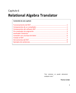 Relational Algebra Translator - Laboratorio de Bases de Datos