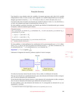 Función Inversa - Aprende Matemáticas