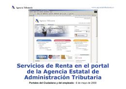 Servicios de Renta en el portal de la Agencia Estatal de