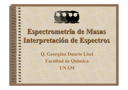 Espectrometría de Masas Interpretación de Espectros - DePa
