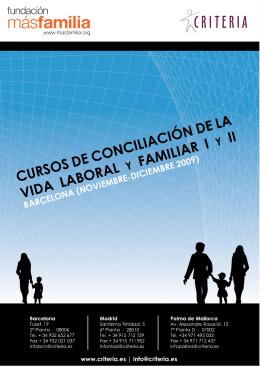 cursos de conciliación de la vida laboral familiar i ii