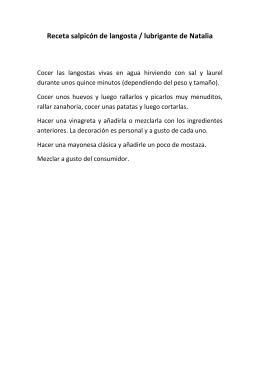 Receta salpicón de langosta / lubrigante de Natalia