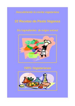 32 Recetas de Pasta Veganas