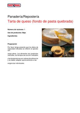 Tarta de queso (fondo de pasta quebrada)