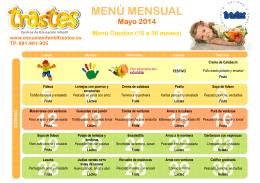 Menús Capitán Trastes Mayol 2014