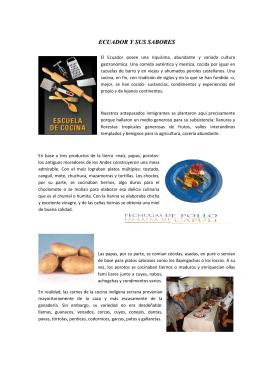 ECUADOR Y SUS SABORES - PUCE-SI