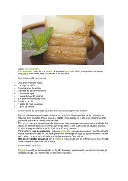 Ingredientes (2 personas): Elaboración de la receta de sopa de