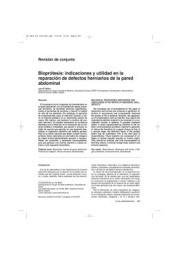 Bioprótesis: indicaciones y utilidad en la reparación de defectos