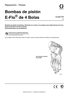 312977R, E-Flo 4-Ball Pumps Repair-Parts, Spanish