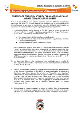 Nacionales - Comité Paralímpico Español