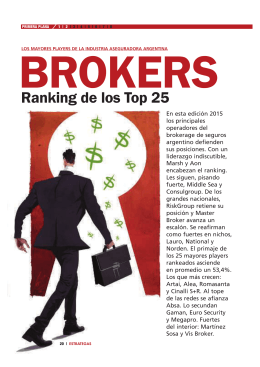 Ranking de los Top 25 - Norden Brokers