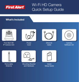 Wi-Fi HD Camera Quick Setup Guide