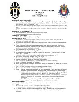 JUVENTUS FC vs. CD GUADALAJARA
