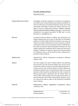 El exilio delahuertista - Instituto de Investigaciones Históricas