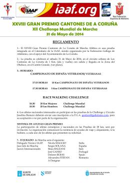 Reglamento 2014 - Federación Galega de Atletismo