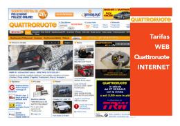 Tarifas WEB Quattroruote INTERNET