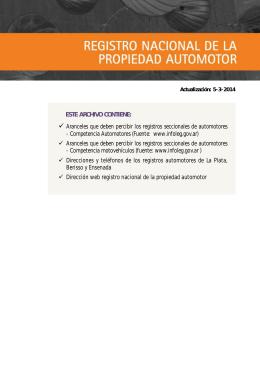 REGISTROS SECCIONALES DE AUTOMOTORES