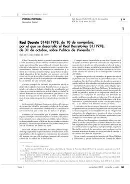 Real Decreto 3148/1978, de 10 de noviembre, por el que se