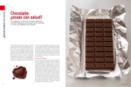 Chocolate: ¿onzas con salud?
