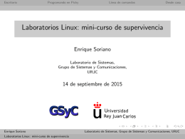 Laboratorios Linux: mini-curso de supervivencia