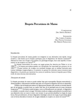 Biopsia Percutánea de Mama