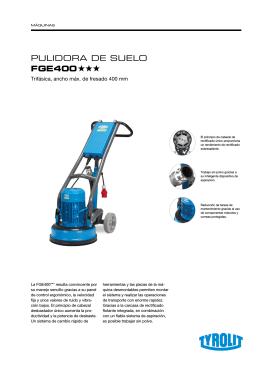 PULIDORA DE SUELO FGE400