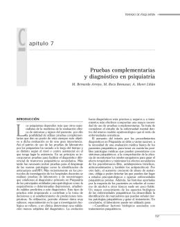 Pruebas complementarias y diagnóstico en