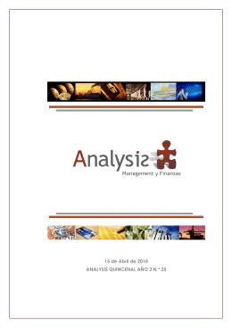 Gestión de Proyectos - Analysis