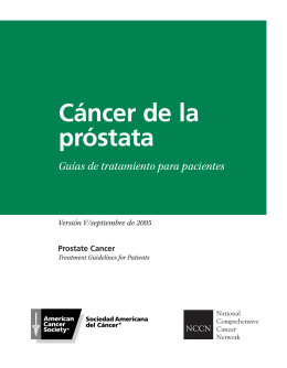 NCCN Prostate Cancer V (Spanish)