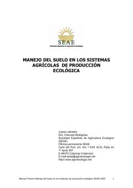 suelo - Sociedad Española de Agricultura Ecológica