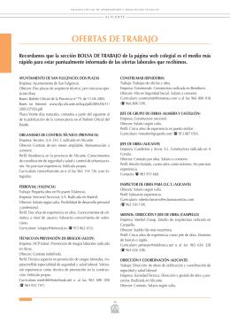 ofertas de trabajo - Colegio Oficial de Aparejadores y Arquitectos