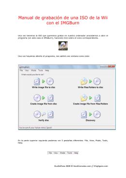 Manual de grabación de una ISO de la Wii con el
