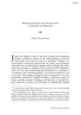 Borges on Poetry and Translation in Theory and Practice