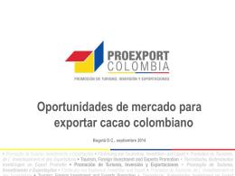 Oportunidades de mercado - Cacao