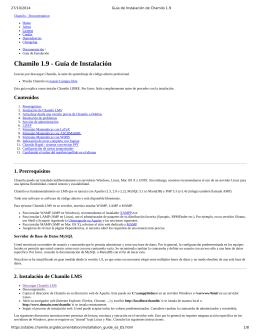 Chamilo 1.9 Guía de Instalación