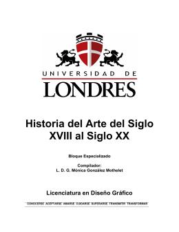 Historia del Arte del Siglo XVIII al Siglo XX