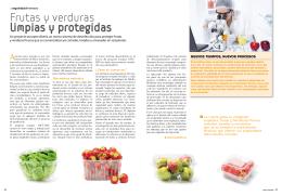 Frutas y verduras limpias y protegidas