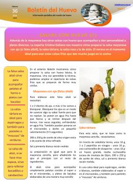Salsas con huevo (II)