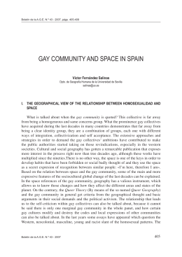 Gay community and space in Spain