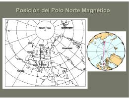 Posición del Polo Norte Magnético