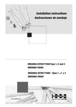 Instrucciones de montaje Installation instructions