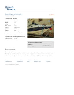 Barco: Playamar Lubina 505