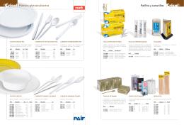 Palillos y canutillos Plástico: platos/cubiertos